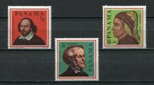 37234) PANAMA 1966 MNH** Dante, Wagner, Shakespeare 3v