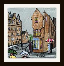 Edinburgh down Cockburn Street : Original Northern Art Oil Painting Phil Lewis