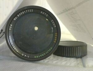 Sears Multicoated Auto Zoom 1:4.0 f=80-200mm 55mm MD Lens for Minolta