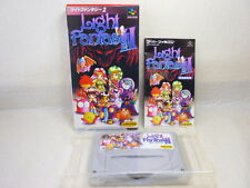 LIGHT FANTASY II 2 Super Famicom Nintendo Import JAPAN Video Game sf