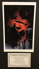 "BATMAN Color Print 17"" x 11"" Signed LEE WEEKS COA Beautiful! Capturing Crooks"