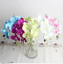 Random Color Artificial Butterfly Orchid Silk Flower Wedding Phalaenopsis 1PCS