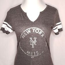 New York Mets Size M Majestic Fan Fashion Fitted Tee Tshirt NY Mets MLB Womens