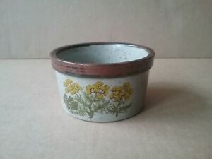 Vintage TAKAHASHI Yellow Flower Stoneware Pot - Made in Japan
