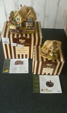 Lilliput lane The Chocolate Factory & The Chocolate Box..with boxes & deeds.