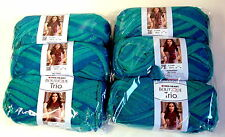 Red Heart Boutique Trio Yarn Crochet AQUEUS 6 Balls Lot Sale NEW