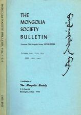 THE MONGOLIA SOCIETY BULLETIN vol.IV V VI