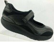 Skechers Shape Ups Fitness Womens Size 7.5 Black Mary Jane Toning Sneakers Shoes