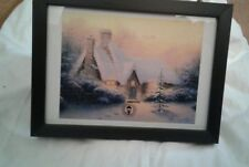 Christmas Tree Cottage by Thomas Kinkade in 7.5x5.5 Wall or Tabletop Frame