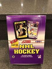 (1) 1991 Score NHL Hockey Card Box, 36 packs, Factory Sealed