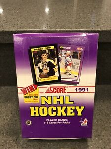 1991 Score NHL Hockey Card Box, 36 packs - Possible Mario Lemieux PSA 10