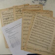 orchestra parts DER BETTELSTUDENT nr.2 & 9 , carl millocker