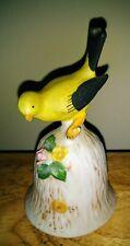 Dinner Bell 1980's Bisque Porcelain Yellow Bird