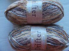 King Cole Drifter soft cotton blend  DK yarn, Nebraska, lot of 2 (329 yd ea)