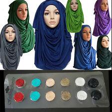 Crystal Magnetic Colorful Hijab Pin Headscarf Abaya Clasp Brooch Shawl Scarf AU