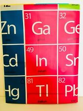 PERIODIC TABLE OF ELEMENTS CHEMISTRY PEVA SHOWER CURTAIN BRIGHT COLORS BY SPLASH