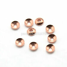 10g 3x1mm Rose Gold Color Brass Tiny Bead Cones Caps Bead Caps about 450pcs/10g