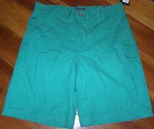 "NEW Arrow Mens 32 Kelly Club Green Shorts 10"" Inseam Flat Front 100% Cotton"