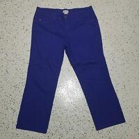 Women's Caribbean Joe Denim Capri Jeans ~ Sz 14P ~  Royal Blue ~ Cotton Blend