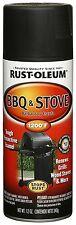 Rust-Oleum 249310 BBQ Grill & Stove Spray Paint - High Heat Spray Paint - Black