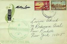 TONGA TIN CAN ISLAND CANOE MAIL MATSON LINES COVER FROM NIUAFOOU TO NY USA