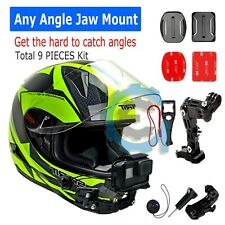 Helmet Front Jaws Chin mount & 3M Sticker for Gopro Hero cameras 6/5/4/3/3+/2