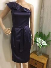 One Shoulder Regular Size Dresses for Women with Zipper
