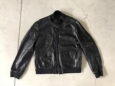Ralph Lauren Black Label Reindeer Leather Jacket XL RRL Rugged VTG Bomber Grunge