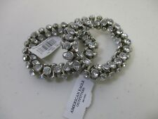 American Eagle Outfitters AEO Silver Stretch Trumpet Bracelet NWT 15.5 Set of 2