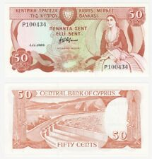CYPRUS - 50 Cents Banknote (1989) Pick ref: 52 - UNC.