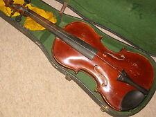 Beautifully flamed old 4/4 Violin violon 1 part back!