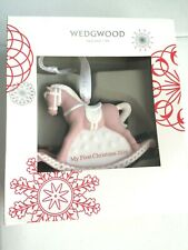 Wedgwood My First Christmas 2016 Rocking Horse Ornament - New in Box