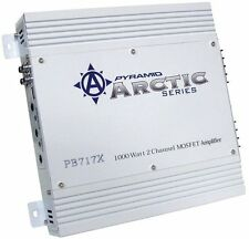 NEW! PYRAMID 2 Channel 1000 Watt Car Audio Amplifier Power Amp Class AB | PB717X