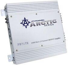 NEW! PYRAMID 2 Channel 1000 Watt Car Audio Amplifier Power Amp Class AB | PB717X