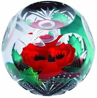 Caithness Glass WW1 Always Remember poppy paperweight Limited Edition 66 of 250