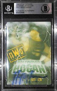 Hulk Hogan Signed 1999 Little Caesar's WCW NWO Lenticular Card BAS COA WWE Auto