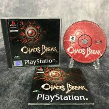 Chaos Break PS1 PlayStation 1 PAL Game Complete Rare Survival Horror Shooter