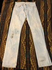 "LVC Vintage Levis 505 Jeans Pants Selvedge Denim Bleach Distressed 31"" Tag 32"