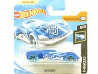 Hotwheels Crescendo X-Raycers 59/250 Blue Short Card 1 64 Scale Sealed New