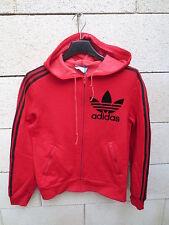 VINTAGE Veste à capuche ADIDAS Trefoil rouge VENTEX tracktop jacket 70's FRANCE