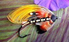 "3.25"" Bud Guidry Full Dress Gold Crest Cascade Salmon fly art Sticker. Fly tying"