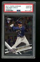 2017 Topps Chrome Update #HMT52 Orlando Arcia Brewers RC Rookie Card PSA 10