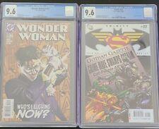 DC TRINITY CGC GRADED COMIC BOOKS WONDER WOMAN #205 8/04 & TRINTY #22 10/08 Dec?