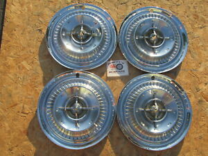 """1959 BUICK LESABRE, ELECTRA 15"""" ~SPINNER~ WHEEL COVERS, HUBCAPS, SET OF 4"""
