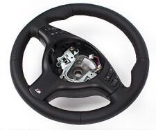Cuero glates volante de cuero bmw e46 m3 m volante con diafragma multifunción negro