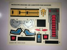 New listing 1993 Mmpr Power Rangers Dinozord triceratops & sabretooth sticker sheet