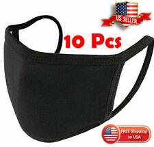 10 PCS Cloth Reusable Black Face Mask WASHABLE Mouth Mask Protective US STOCK