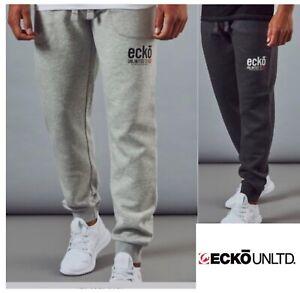 Ecko Unltd Mens Joggers 3XL,4XL,5XL Jog Bottoms Black Grey Big Man Sweatpants