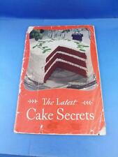 THE LATEST CAKE SECRETS RECIPE COOK BOOK 1934 SWANS DOWN CAKE FLOUR ADVERTISING