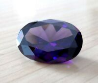 Brilliant Purple Sapphire Oval Faceted Cut VVS Loose Gemstone From China